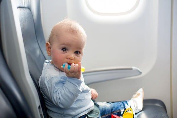 Toddler on Airplane
