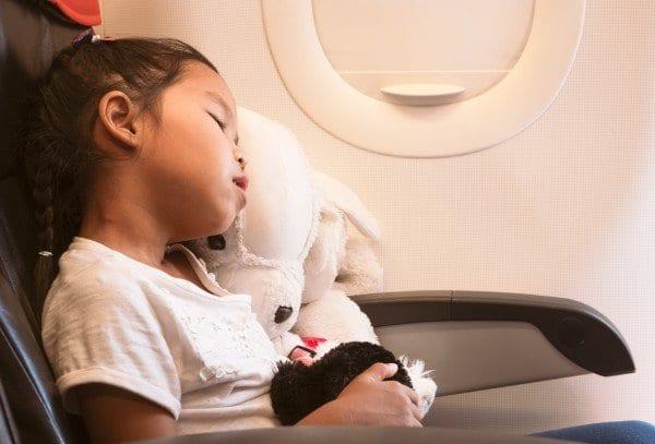 Child Asleep on Airplane