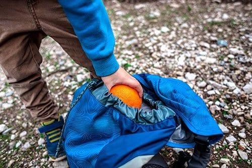 Orange in Backpack