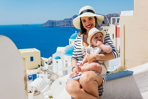 Mom and Baby on vacation